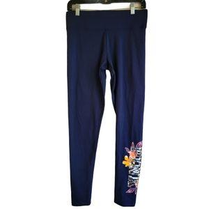 Pink by VS Navy Blue Sequin Bling Yoga Leggings